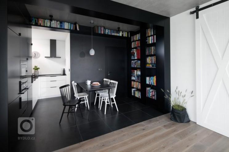 Černobílý interiér - SMLXL