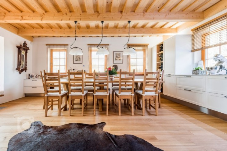 Moderní interiér v roubence - Kuchyně Sykora