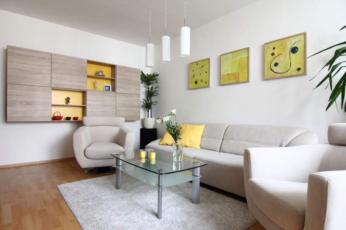 Návrh interiéru obývacího pokoje