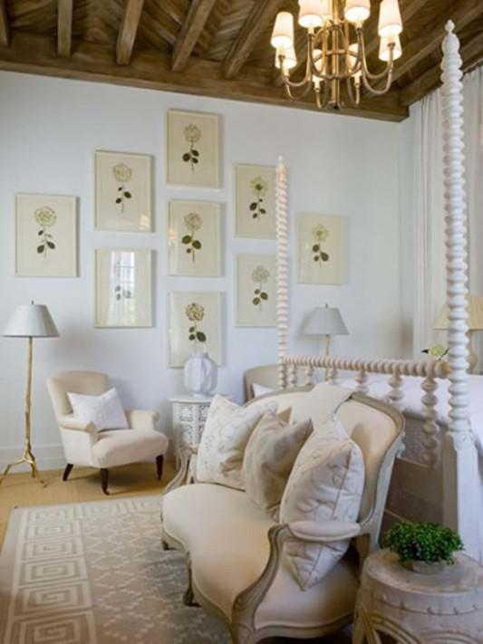 Ložnice ve francouzském venkovském stylu   Styl a Interier
