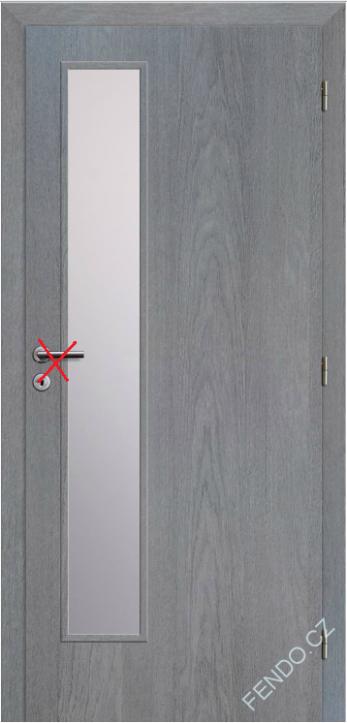 Interiérové dveře 80P Klasik 5 Earl grey   Stavební bazar FENDO