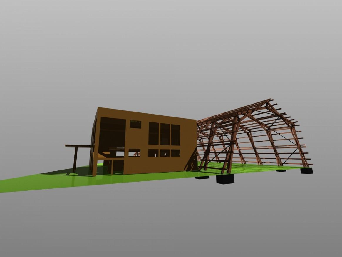Drevená Konstrukce Prístrešku