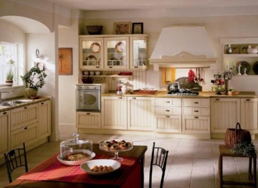 Bílá venkovská kuchyně se stylovou digestoří | Styl a Interier