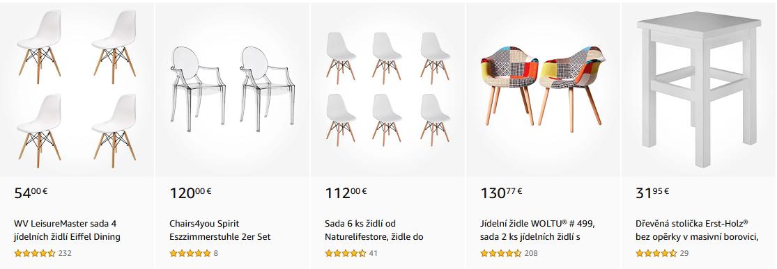 Jídelní židle Inspirováno Vašimi nákupy