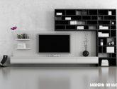 (60 obraz) Nejnovejší inspirace Moderní obývací stěna