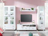 Nejlepší nápad Bílá obývací stěna (24 fotky)